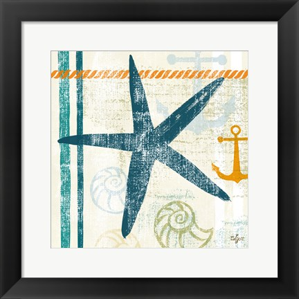 Framed Nautical Brights III Print
