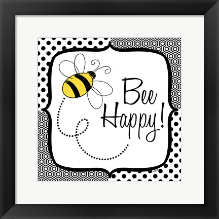Framed Be Happy and Brave I Print