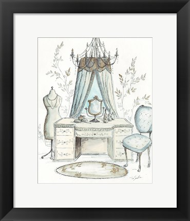 Framed French Dressing Room I Print