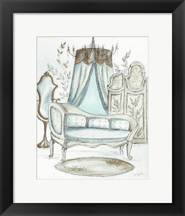 Framed French Dressing Room II Print