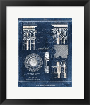 Framed Vintage Blueprints II Print