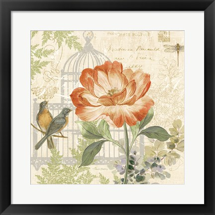 Framed Floral Nature Trail III Print