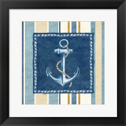 Framed Nautical Stripe III Print