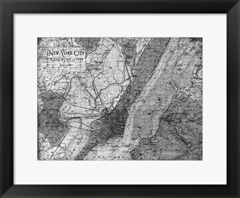 Framed Environs NYC Gray Print