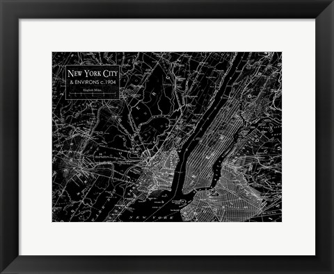 Framed Environs NYC Black Print