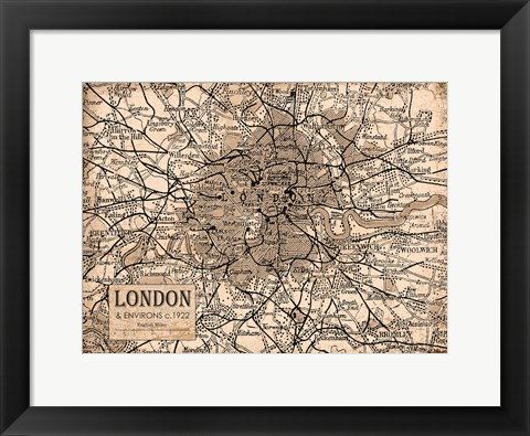 Framed Environs London Beige Print