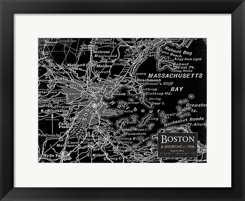 Framed Environs Boston Black Print