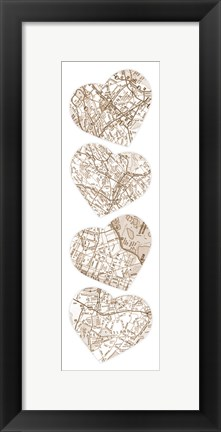 Framed Map To  Your Heart  2 Print