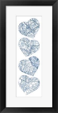 Framed Map To  Your Heart  3 Print