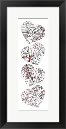 Framed Map To Your Heart 6 Print