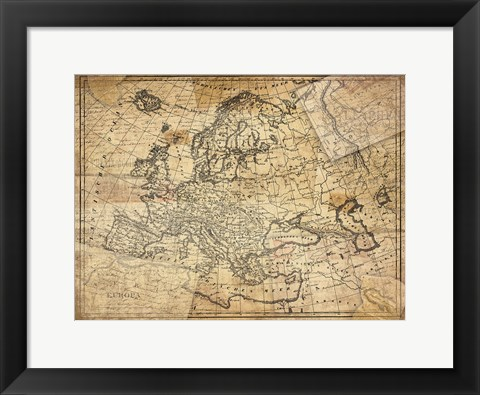 Framed Vintage Map II Print