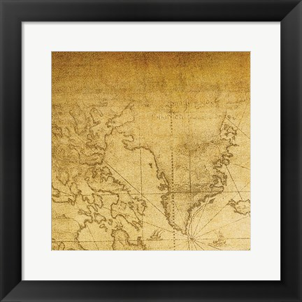 Framed Vintage Map A Print