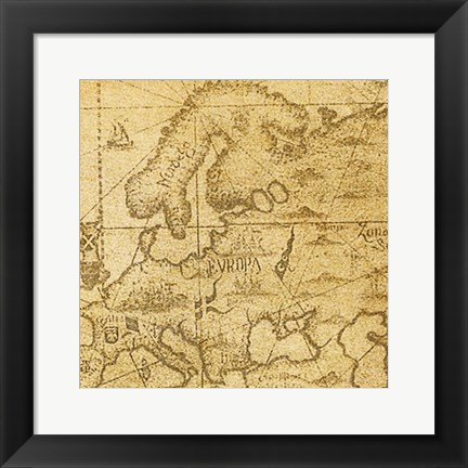 Framed Vintage Map C Print