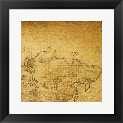 Framed Vintage Map D Print