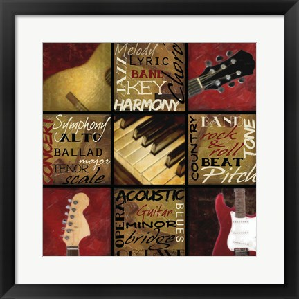 Framed Jam Session I Print