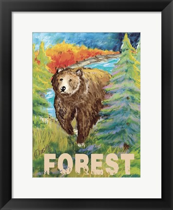 Framed High Country Forest Print