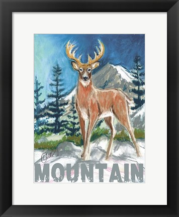 Framed High Country Mountain Print