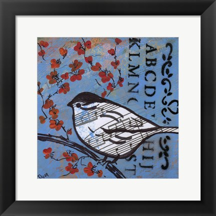 Framed Bird Song 4 Print
