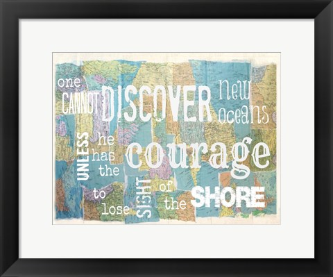 Framed Discover Courage Print