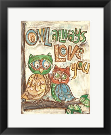 Framed Owl Always Print