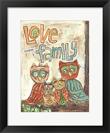 Framed Love Family Print