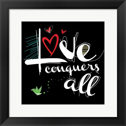 Framed Love Conquers 2 Print