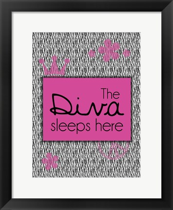 Framed Diva Sleeps Print