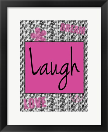 Framed Laugh Print