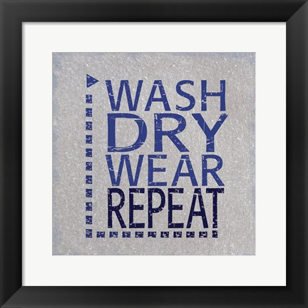 Framed Wash Dry Print