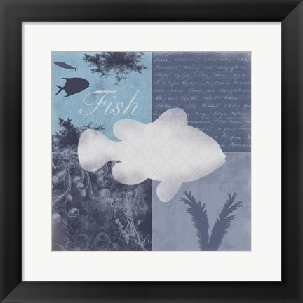 Framed Beach Fish Print
