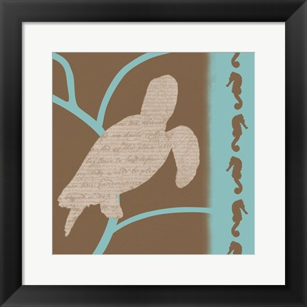 Framed Turtle Pattern Print