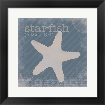 Framed Starfish Definition Print