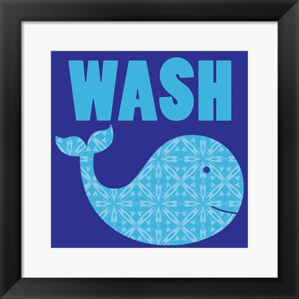 Framed Whale Wash Print