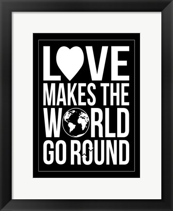 Framed World Go Round Print