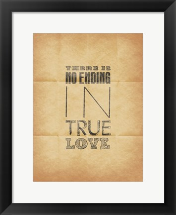 Framed True Love 2  (Beige Background) Print