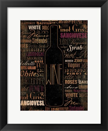 Framed WINE Print