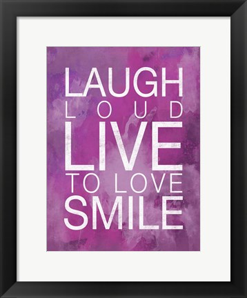 Framed Watercolor Laugh Print