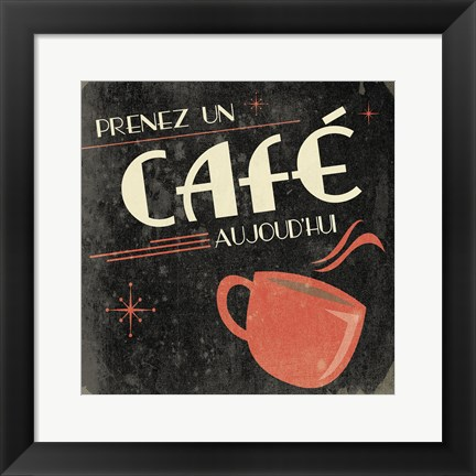 Framed Coffee French II Print