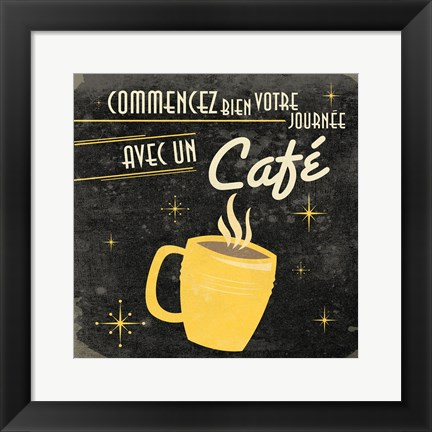 Framed Coffee French I Print