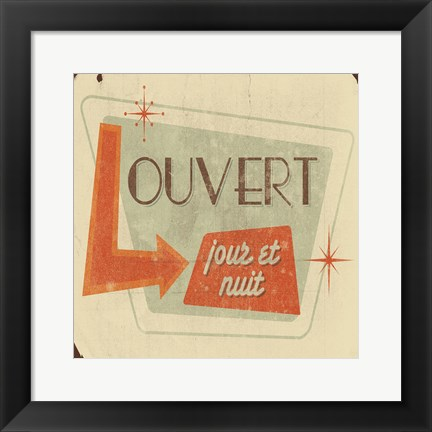Framed Open French Print