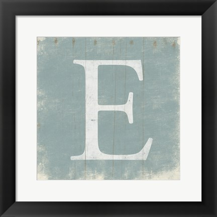 Framed E (Grey Background) Print