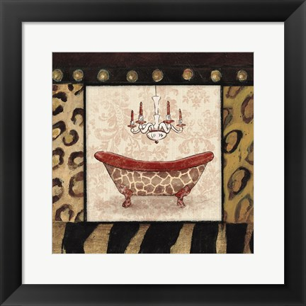 Framed Bath 4 Print