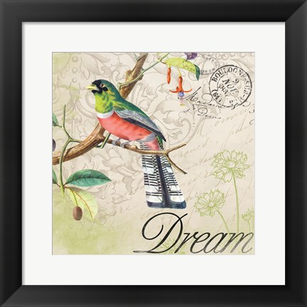 Framed Bird 1 Print
