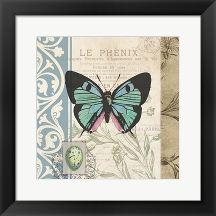 Framed Cart Butterfly Print