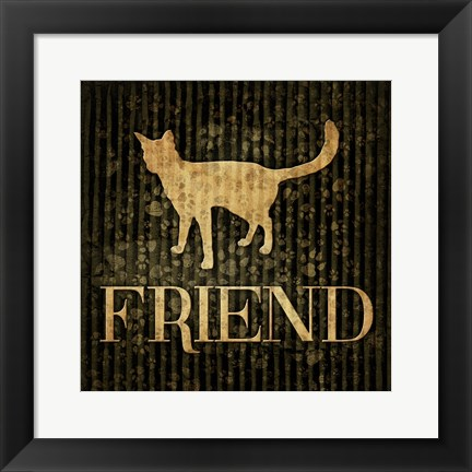 Framed Friend (black background) Print