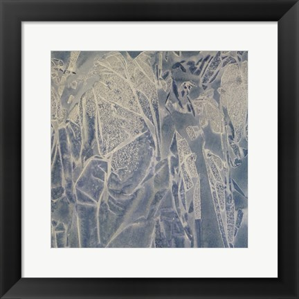 Framed Grey Abstract A Print