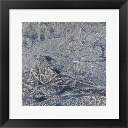 Framed Grey Abstract B Print