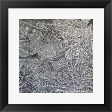 Framed Grey Abstract C Print