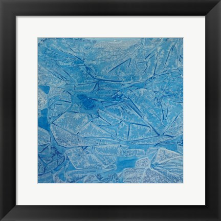 Framed Blue Abstract A Print