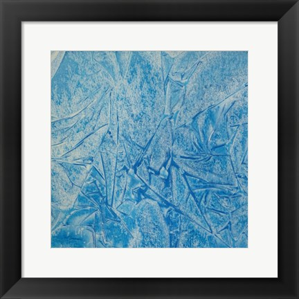 Framed Blue Abstract C Print